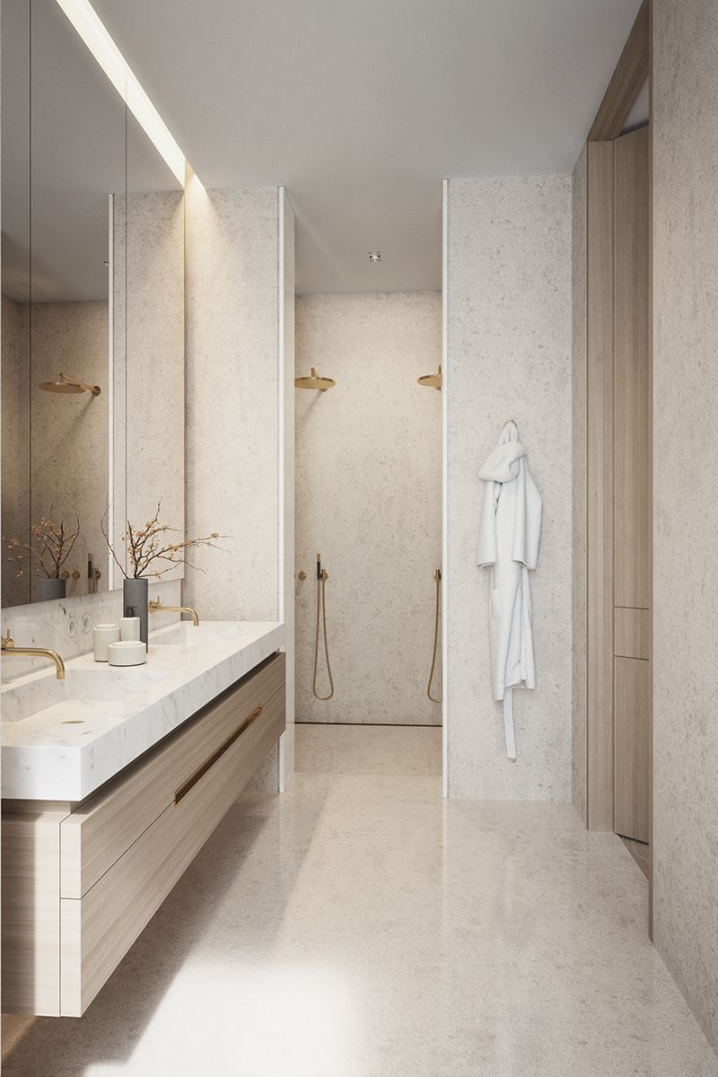 Pin By Hammer Margrander Interior On Minimal Neutrals Bathroom Design Inspiration Bathroom Interior Design Bathroom Design