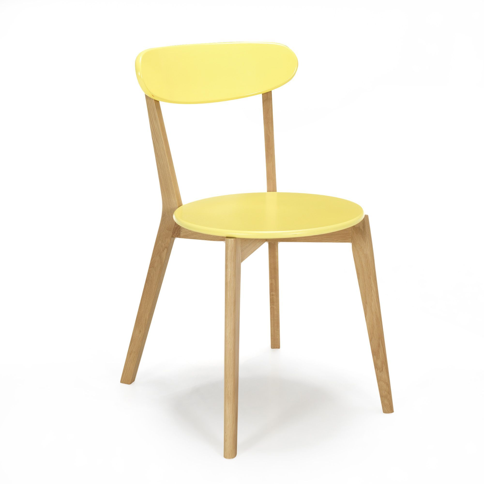 Chaise design scandinave coloris jaune jaune siwa chaises tables et chaises salon et Table a manger alinea