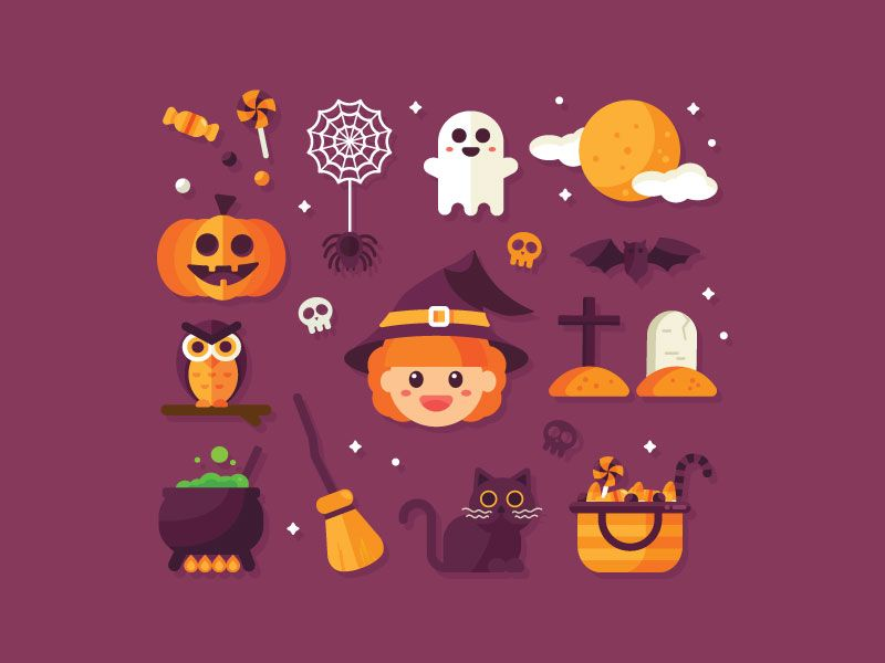 Halloween Icons With Images Halloween Icons Halloween Templates Galaxy S8 Wallpaper