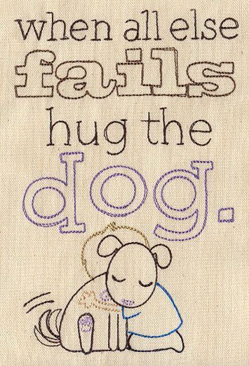 Hug the Dog | Urban Threads: Unique and Awesome Embroidery Designs
