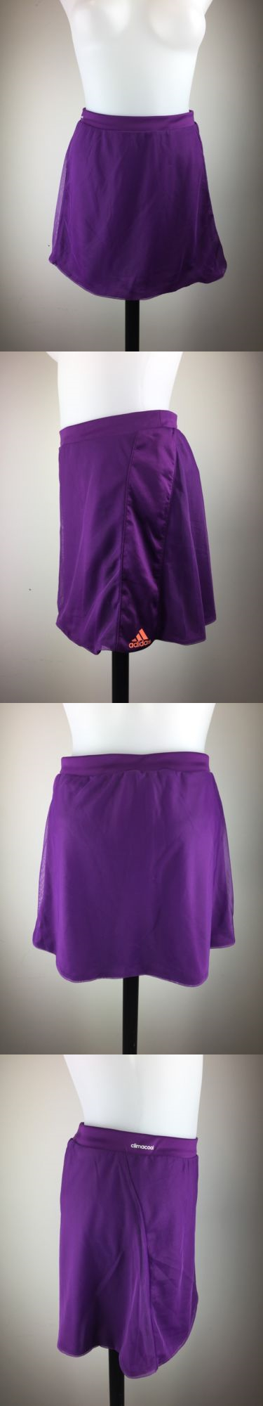 Skirts Skorts and Dresses 70901: Adidas D Adinero Skort Tennis New, Purple, Sz L Climalite, Upf 50+ Nwt -> BUY IT NOW ONLY: $32.5 on eBay!
