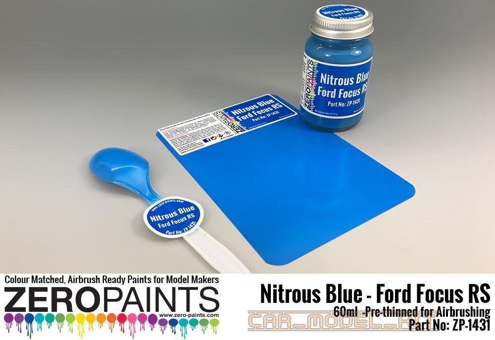 Nitrous Blue Ford Focus Rs Paint 60ml Zero Paints Car Model