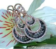 Interesting Earrings with Black, Natural Brown & White Diamonds image