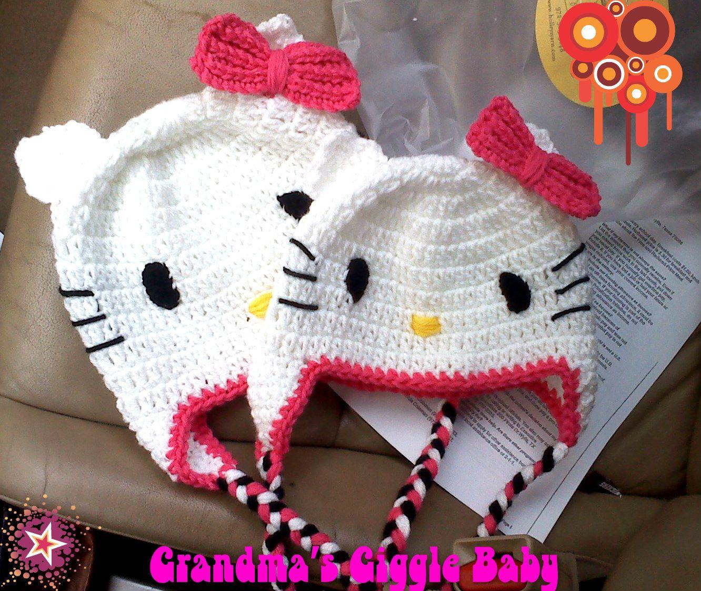 Hello Kitty crochet hat $20 | Baby Crochet | Pinterest