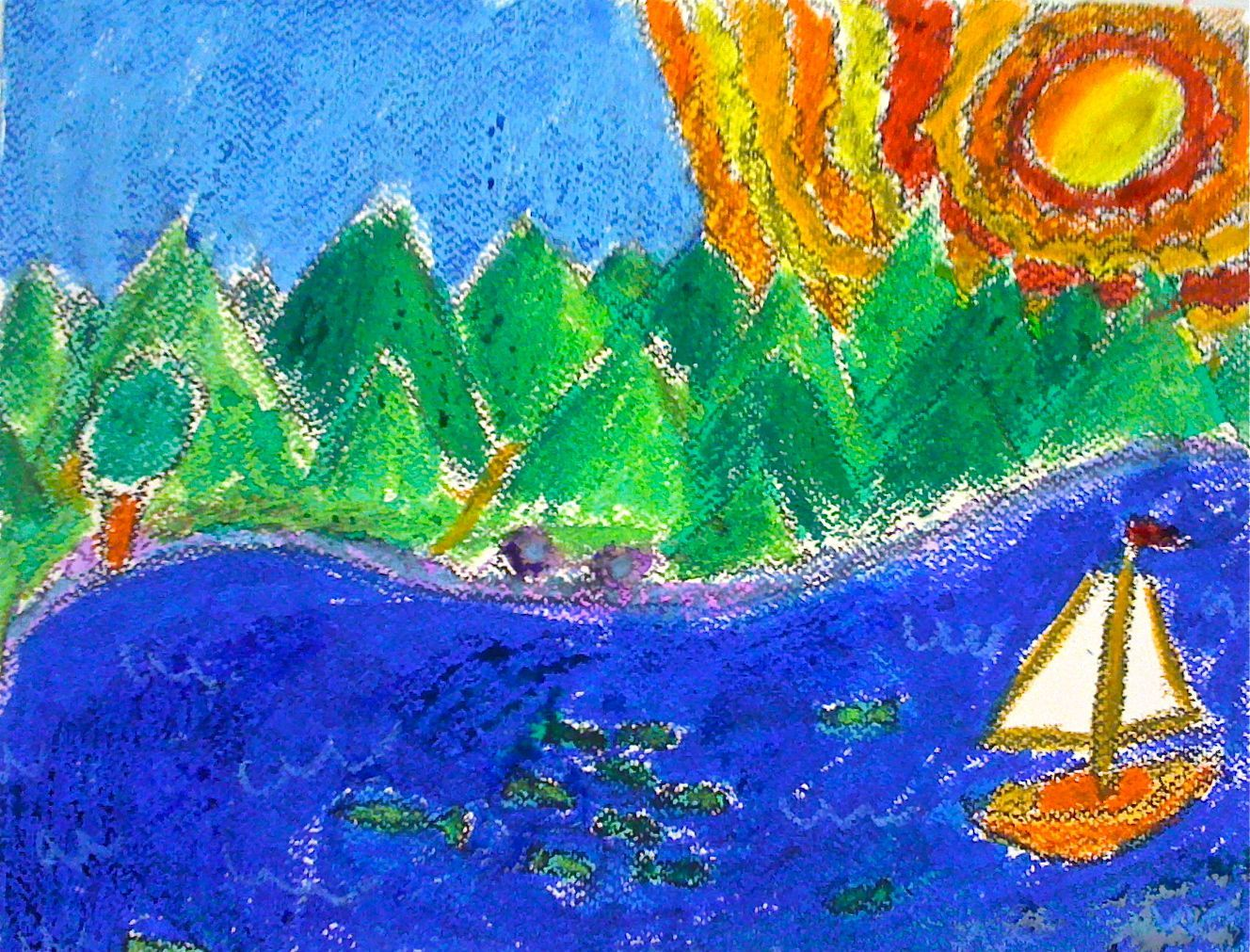 Kids Art Market: Warm and Cool Color Seascape with Hans Hoffman ...