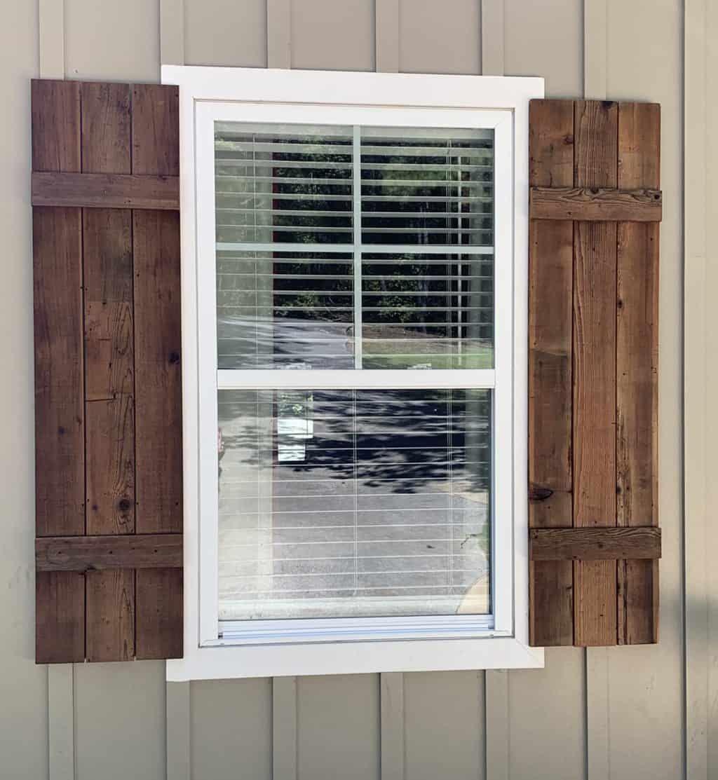 How To Make Cedar Shutters Cedar Shutters Wooden Shutters Exterior House Shutters