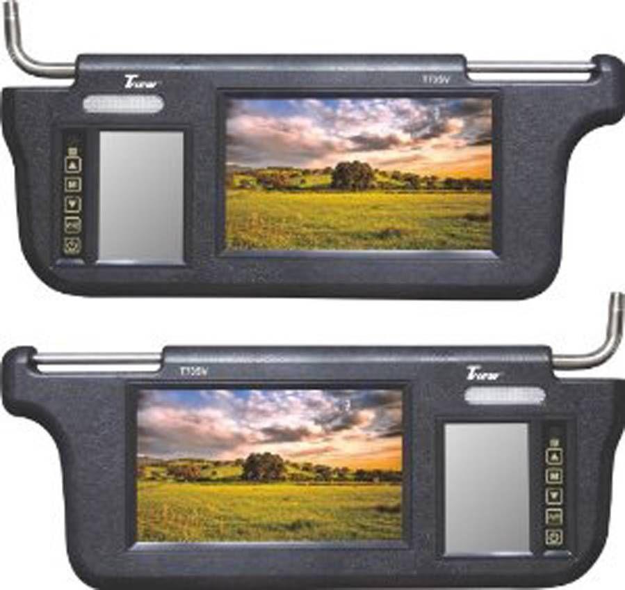 Tview T73sv 7 Led Hd Car Video Sunvisor Monitors Mirrors Free Cell Antenna Car Videos Monitor Car