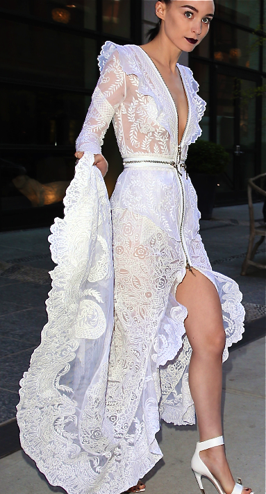 Givenchy White Spanish Inspired Lace Dress