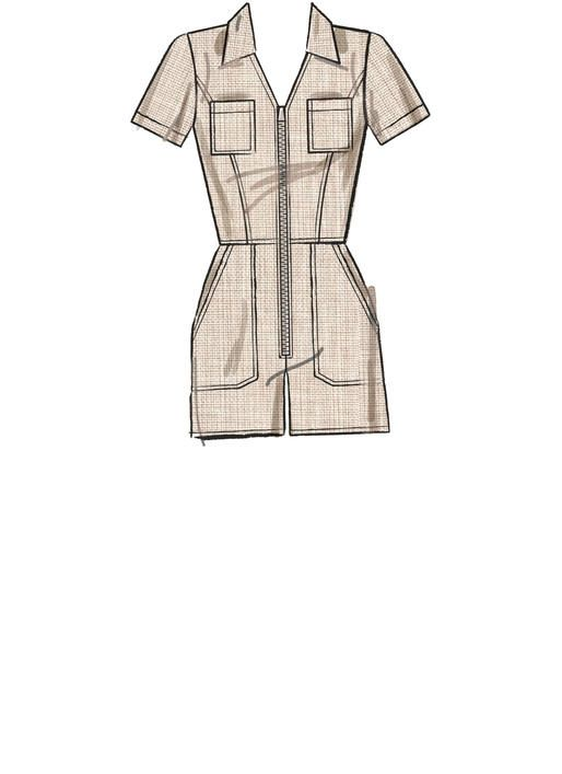 47bbad6715e M7908 Misses  Miss Petite Jumpsuits Jumpsuits have fitted bodice with  princess seams