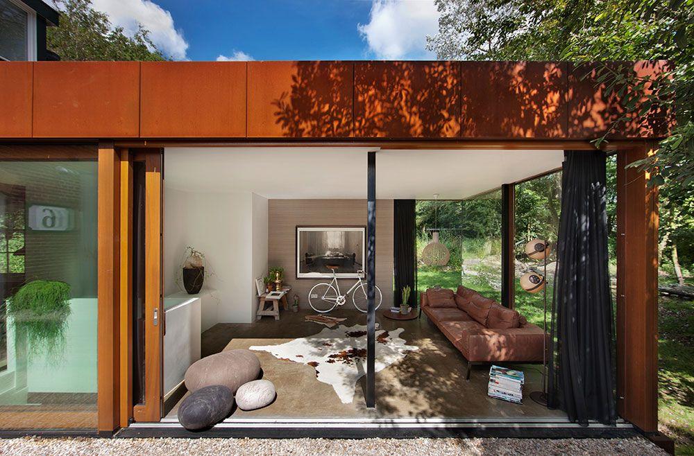Corten Stahl Anbau für Wohnbereich #umbau #cortenstahl - eklektischen stil einfamilienhaus renoviert