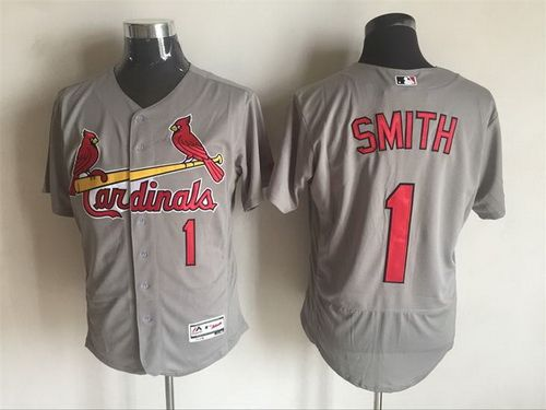 Men's St. Louis Cardinals #1 Ozzie Smith Retired Red 2016 Flexbase Majestic Baseball Jersey