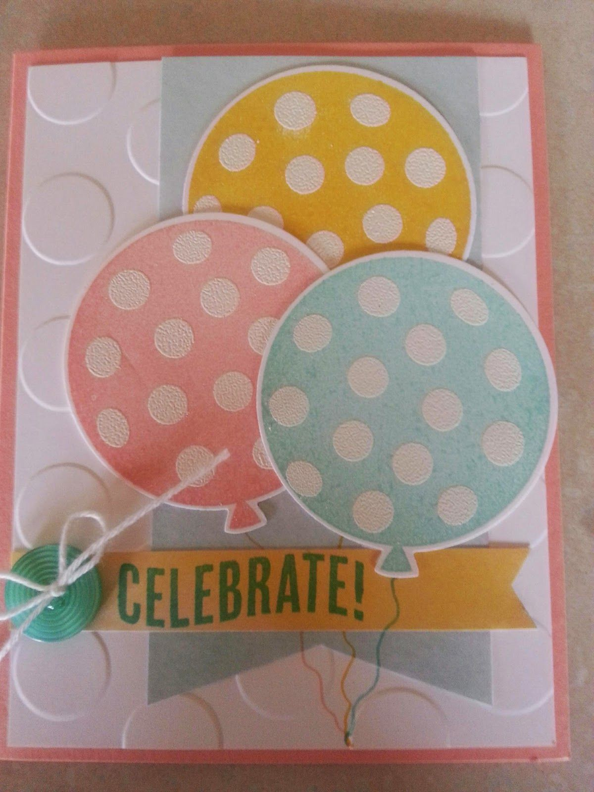 Baby Showers Today ~ Celebrate today stamp set polka dots embossing folder