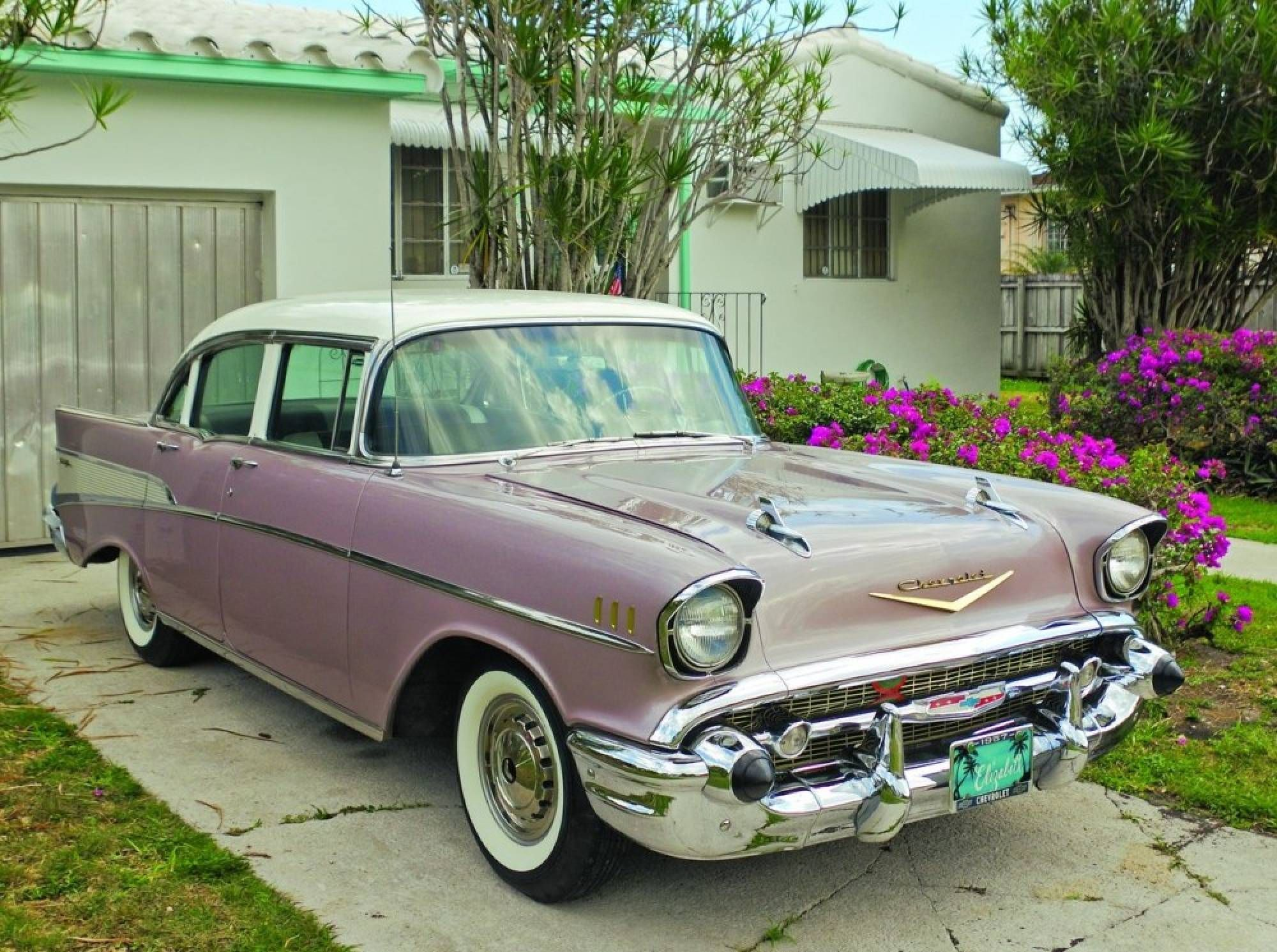 Miami pearl 1957 chevrolet bel air hemmings motor news