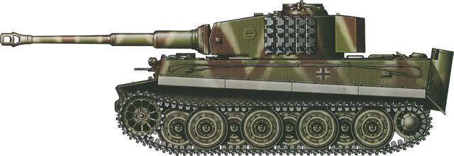 "Tiger H/E camouflage patterns - Germany, November 1944 sPzKp ""Hummel"""
