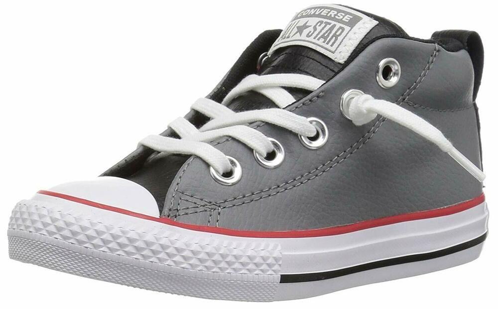 b6758d5eea0c eBay  Sponsored Converse Kid s Chuck Taylor All Star Leather Mid Top  Shoes-Mason
