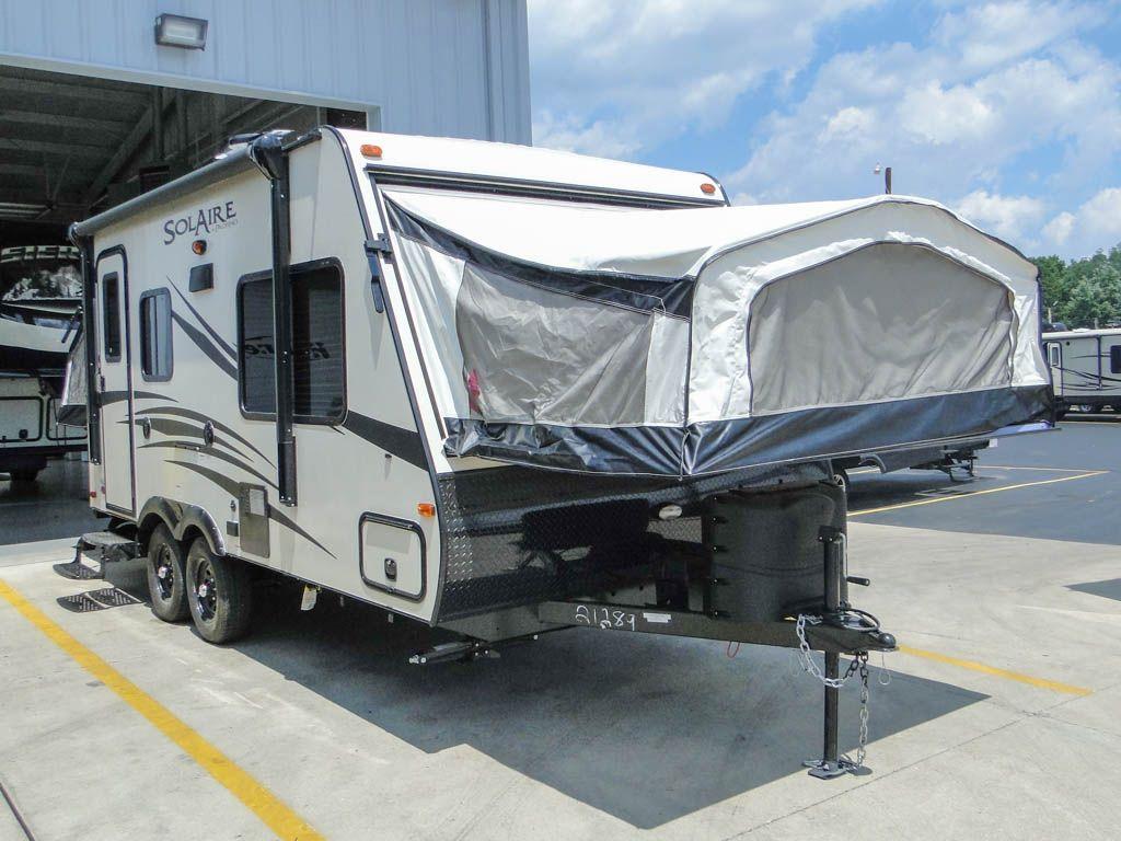 6829tt new 2017 palomino solaire 163x hybrid trailer