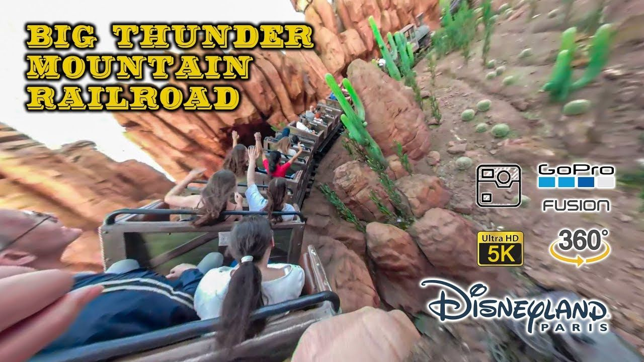 2019 360 Vr 5k Pov Of Big Thunder Mountain Railroad Roller Coaster At Di Disneyland Paris Roller Coaster Thrill Ride