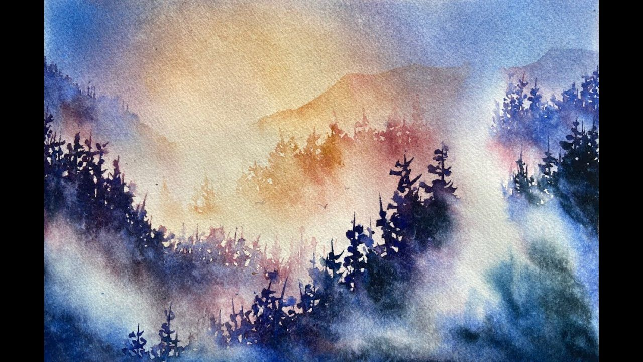 Master The Mist Youtube In 2020 Watercolour Inspiration Mists Watercolor Class