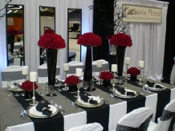 Black white red wedding decor 3 boda pinterest decorao black white red wedding decor junglespirit Images