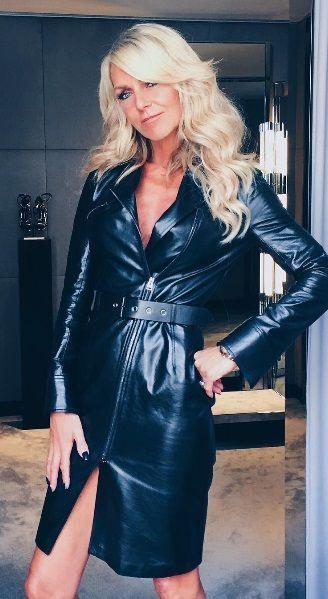 leather jacket milf