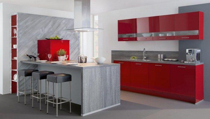 Decoracion De Cocinas Modernas En Rojo Decoracion De Cocina