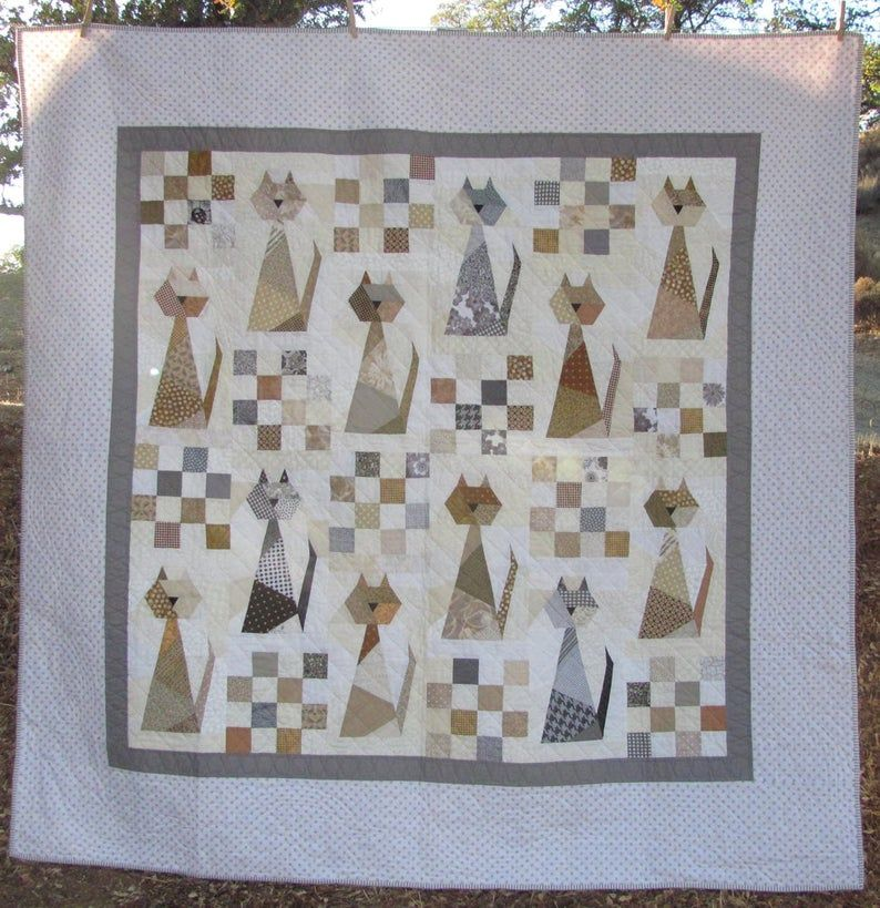 Scrappy Cat Quilt Pattern - For cat lovers everywh