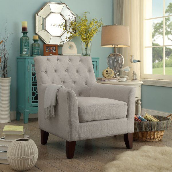 Top This Timeless Tufted Arm Chair With A Pair Of Patterned Pillows For A Stylish Foyer Accent Or Set It Besid Arm Chairs Living Room Furniture Comfy Armchair #pair #of #chairs #for #living #room