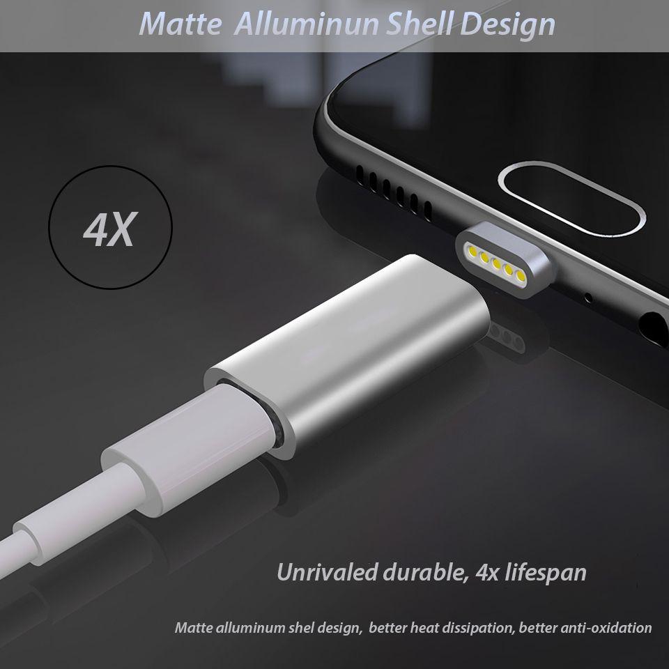 cb68dd54017 3in1 adaptador magnético Convertidor para Iphone Samsung Huawei Oneplus  Cable magnético Micro USB tipo C cargador