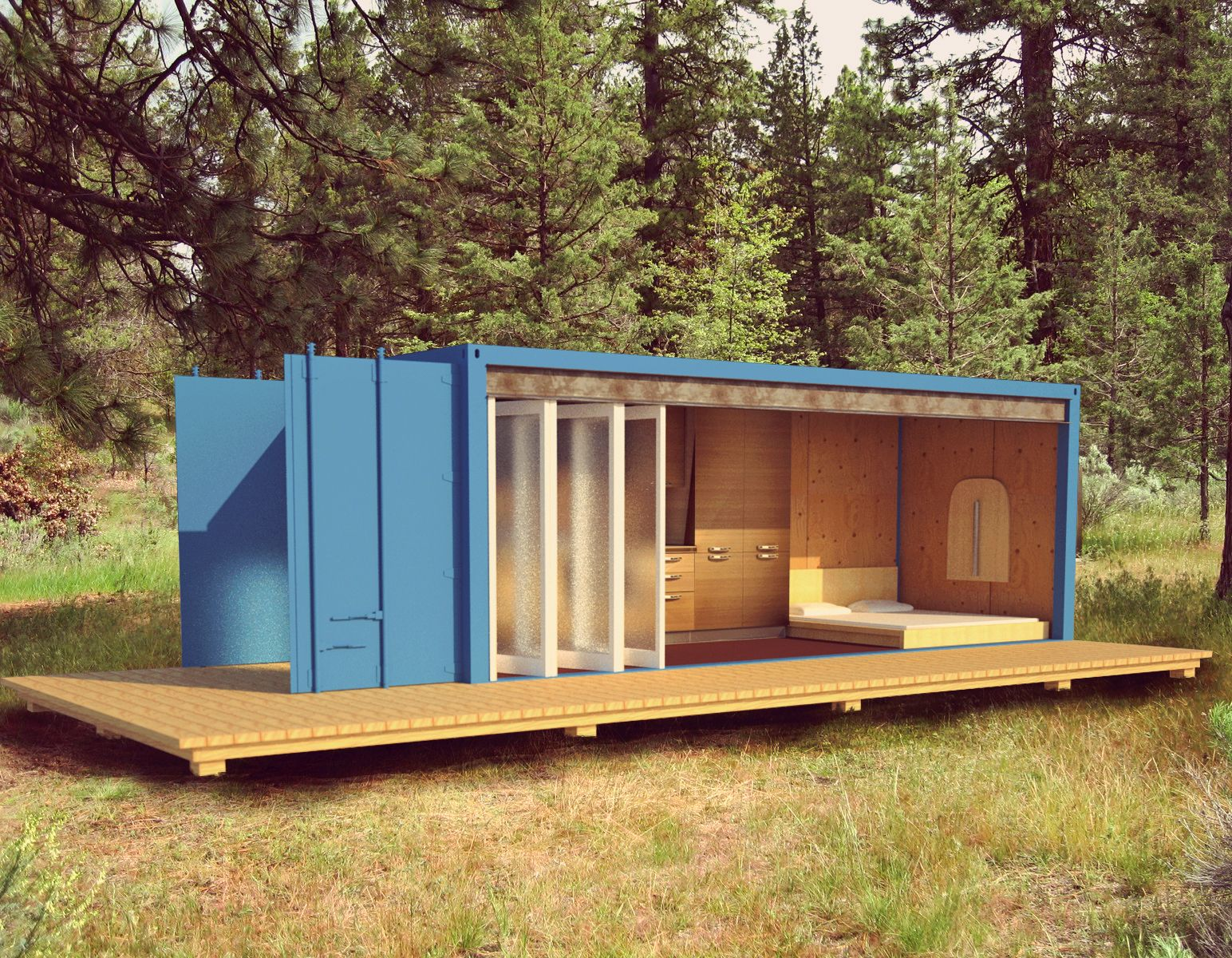 Shipping Container Cabin Learn what you should know about container homes  at http://