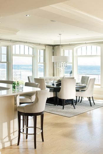 New Hampshire Style Neutral Dining Room Hampton Style Calm