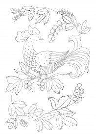 Раскраска антистресс сказочная птица на дереве | Bunte ...