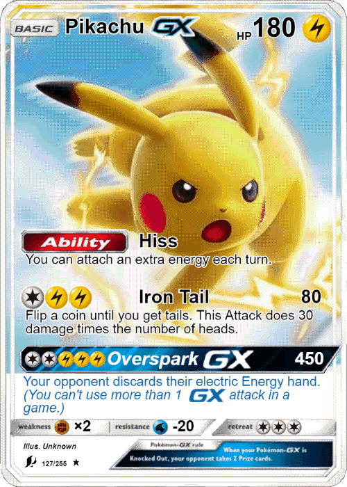 Pikachu Ex Gx Xyz Pokemon Pokemon Cards Pikachu