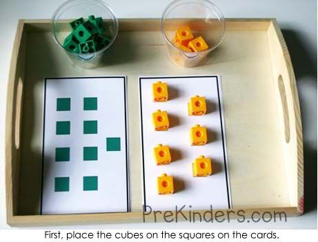 More, Less, Same Lesson with Unifix Cubes