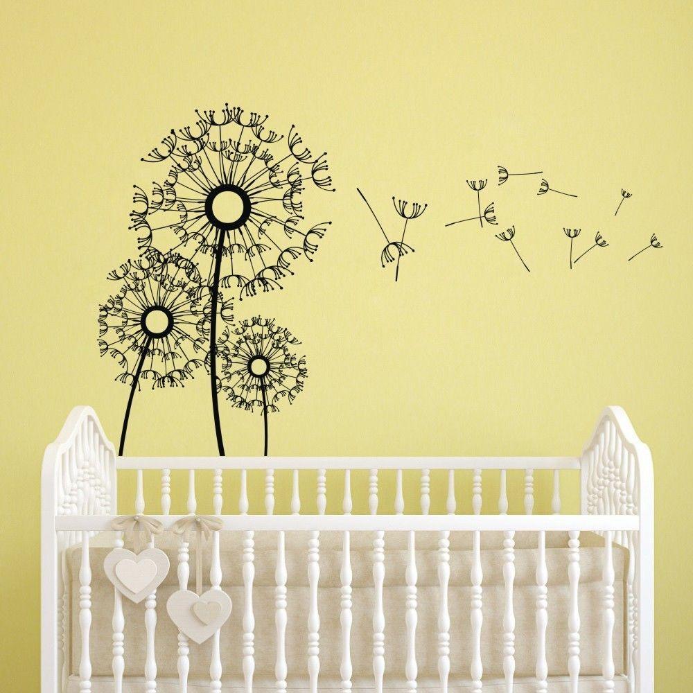 Modern Dandelion Flower Wall Sticker Removable Baby Child Room Vinyl ...