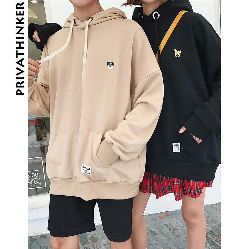 Privathinker 2018 Spring Oversized Hoodies Mens Women Sweatshirts Harajuku  Embroidery Sweatshirts Male Korea Hoodie Sweatshirt. Yesterday s price  US   33.26 ... db6b70b48