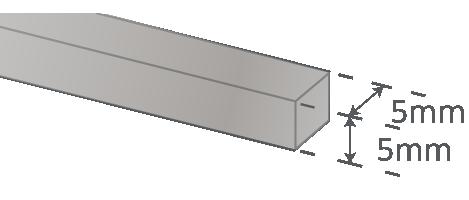 RVS trapstrip 5mm