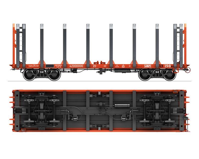 Вагон-платформа для перевозки