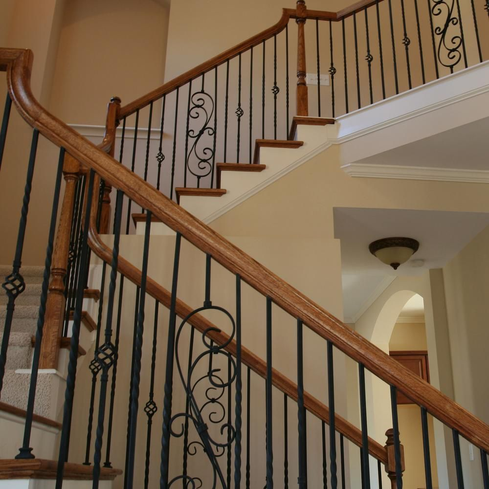 Best Stair Parts 44 In X 5 In Satin Black Decorative Scroll 400 x 300