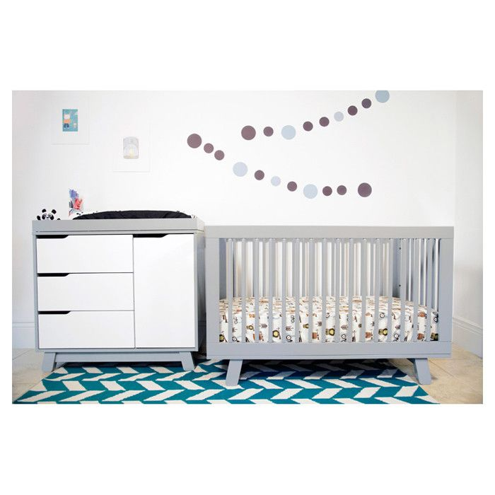 Hudson 3-in-1 Convertible Crib in Gray// | Decoración para Daniel ...