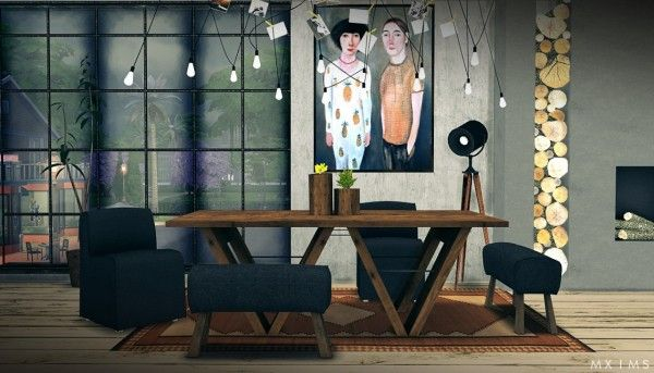 Mxims Restoration Hardware Dining 2 0 Sims 4 Downloads