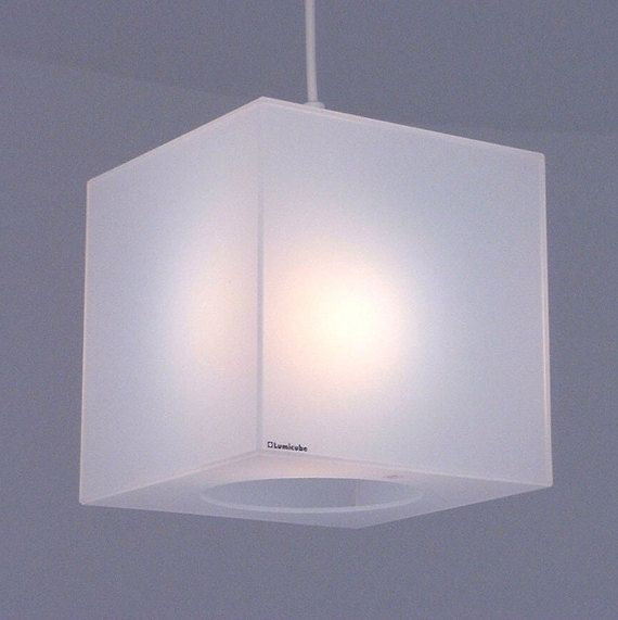 Cube lamp shade in translucent white perspex plexiglass 2017 home cube lamp shade in translucent white perspex plexiglass aloadofball Choice Image