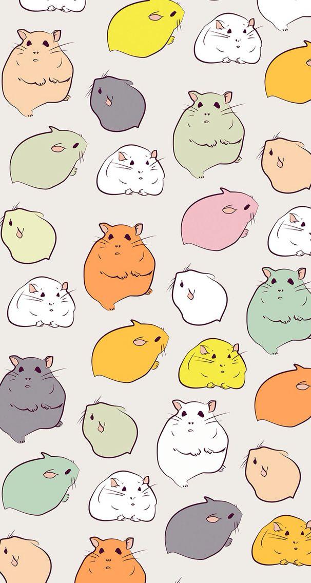 Hamsters Wallpaper Phone Hamster Wallpaper Hamster Cartoon Cute Hamsters