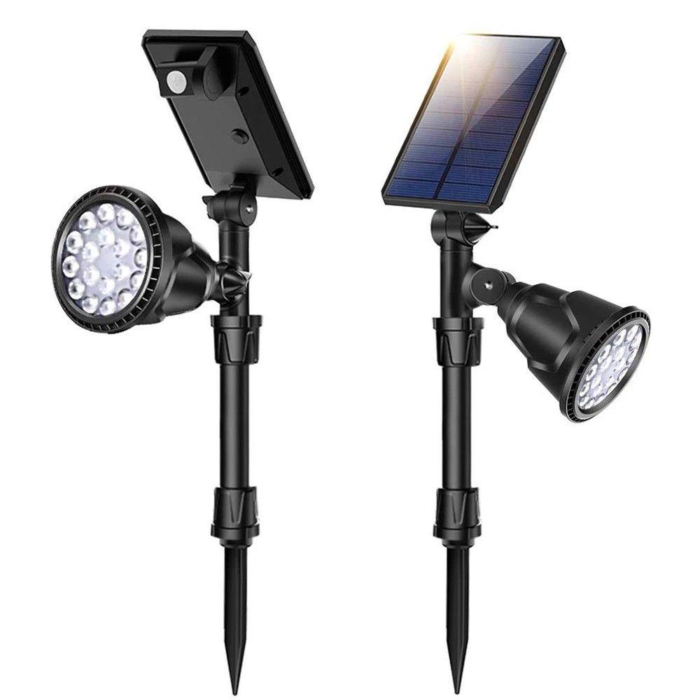 Led Solar Motion Sensor Spot Lights In 2020 Solar Spot Lights Solar Spot Lights Outdoor Adjustable Lighting