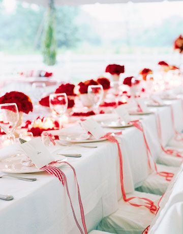 tabletop. vday. | Events Design | Pinterest | Red wedding receptions ...