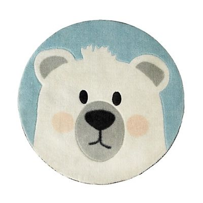 Tapis Rond D60cm Pour Enfant Motif Ours With Images Kids Room Kids Rugs Kids