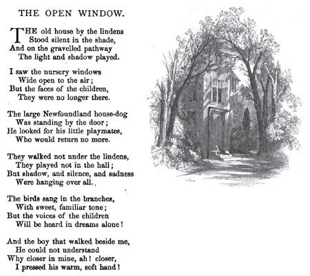 The Open Window By Henry Wadsworth Longfellow