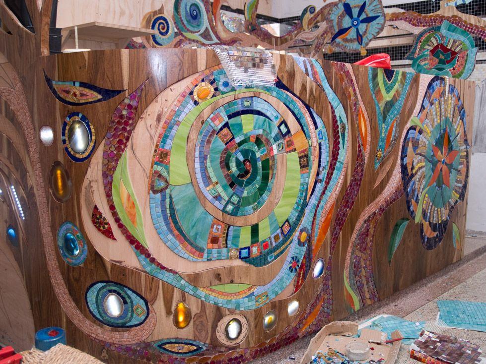 Abraxas Mosaic Mural Mosaicos Decoracion De Unas Manualidades