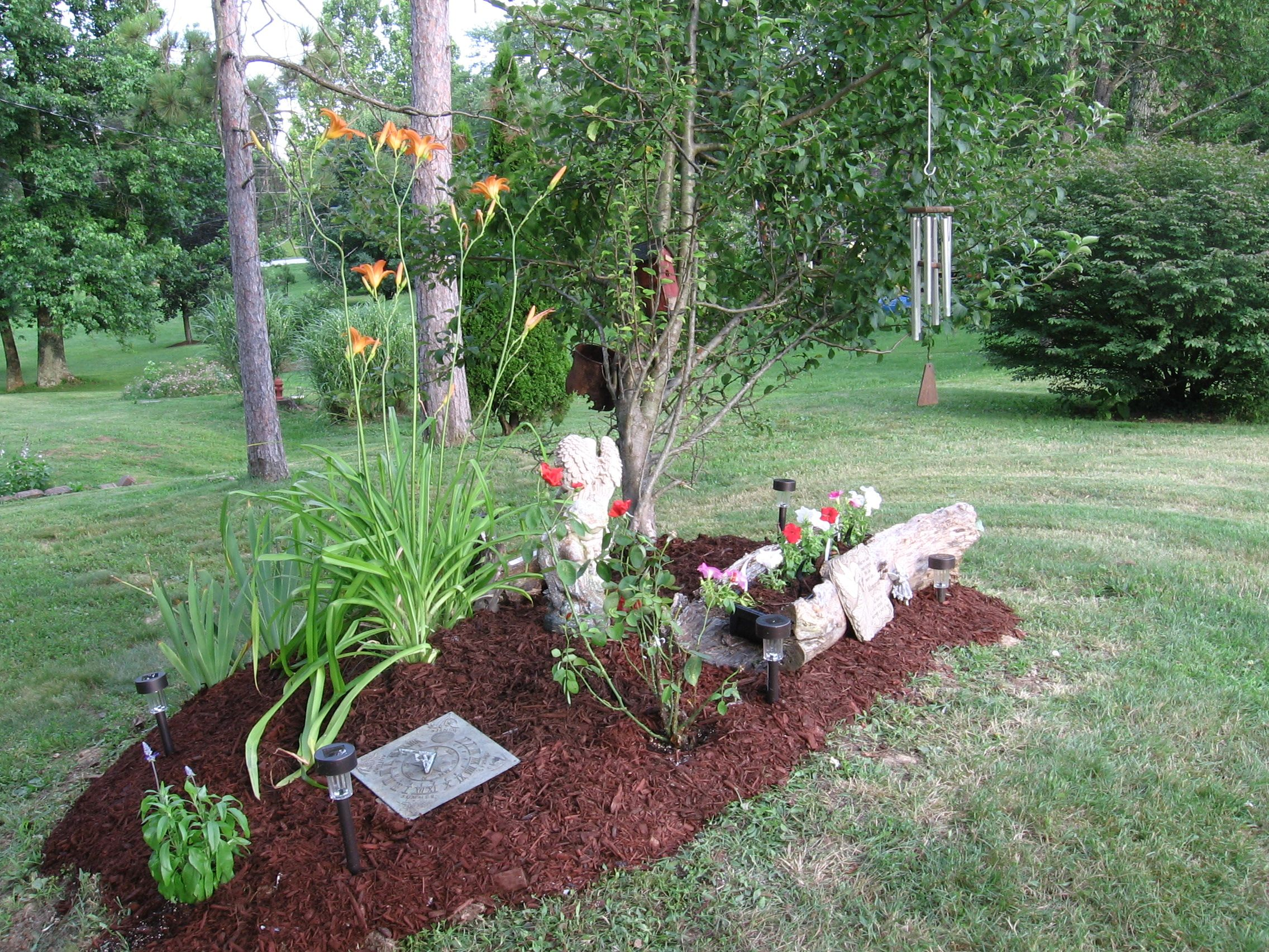 Dads Memory Garden I Made For Him For The Garden