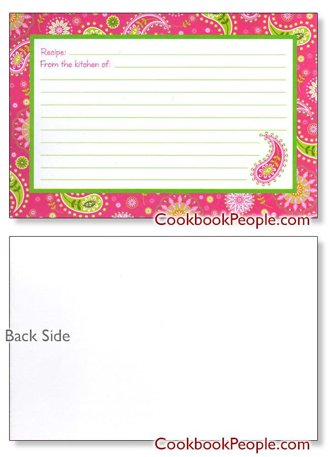 Pretty 4x6 Pink Recipe Card Recipe Cards Pinterest Recipe - recipe card