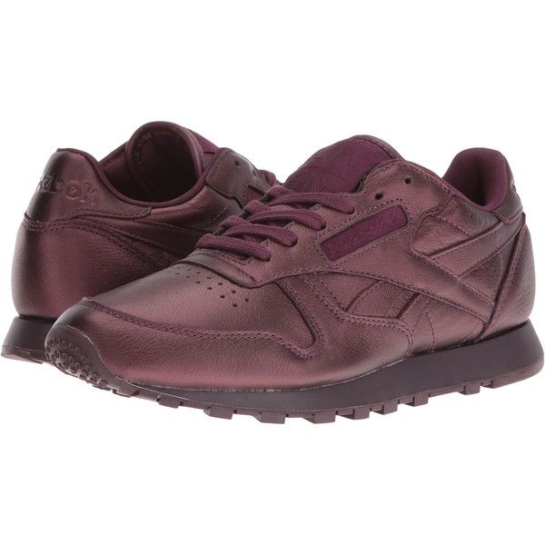 fb6631376 Reebok Classic Leather Face (Ambition/Wonder) Women's Shoes (140 BRL) ❤  liked on Polyvore featuring shoes, brown, brown leather shoes, laced shoes,  ...